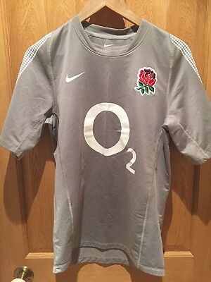 Nike England Rugby Training Top Small Grey