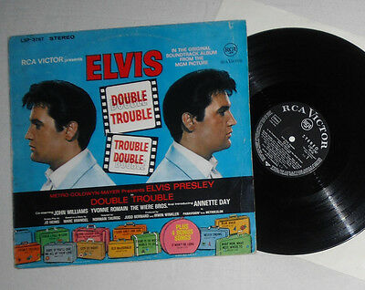 Elvis Presley LP Double Trouble LSP 3787 Germany 1967, black V3, 1st issue
