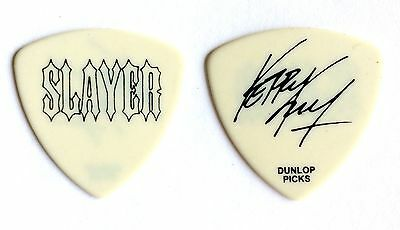 Slayer Guitar Pick. Kerry King Signature SLAYER Opaque White 2010 Pick