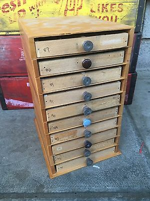 10 drawer Adana letterpress type cabinet printers drawers type case vintage 6