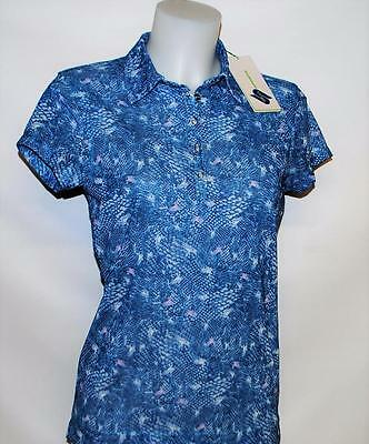 New Ladies Daily Sports cap sleeves polyester sheer blouse golf top Medium