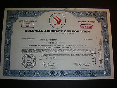 2 different Colonial Aircraft Corporation, 1962 and 1961