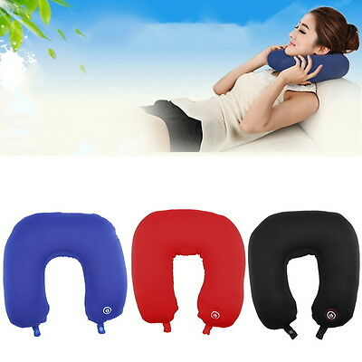 U Shape Travel Pillow Neck Massage Microbead Battery Operated Vibrating MP