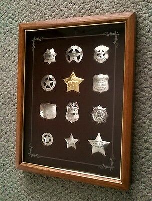 Franklin Mint Great Lawmen of the Old West Badge Set Collection Silver 22k Gold!