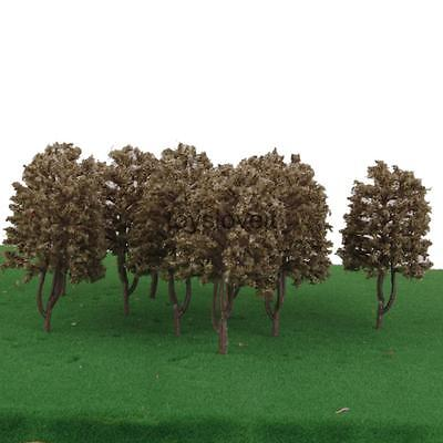10pcs 1:100 9cm Model Trees Architecture Buildings Street Garden Greenery