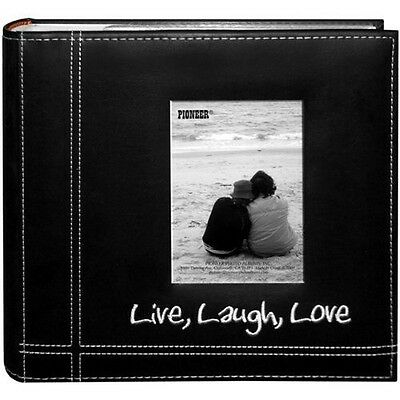 Photo Albums Pioneer Sewn Leather Album 4x6 Cover Frame Holds 200 Photos Modern