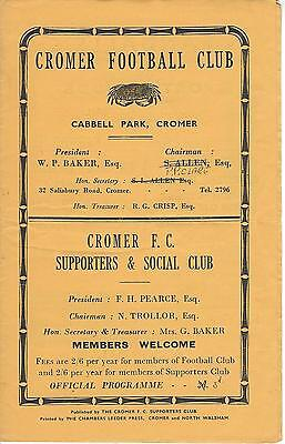 CROMER FC v SHERINGHAM 63-4 Norfolk & Suffolk League Programme