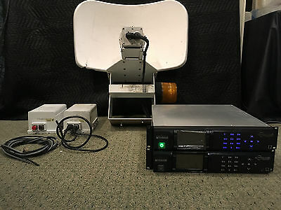 TWO MRC MTX5000 ENG MICROWAVE TRANSMITTERs & TWO OUTDOOR AMPs and ONE DISH