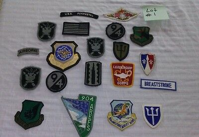 Large Mixed Lot Of 20 US Military Patches L@@K. Lot #1