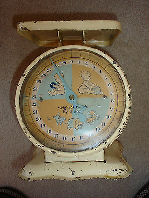 Vintage American Family Nursery Scale Baby Household - 1950's?- WORKS! -no tray