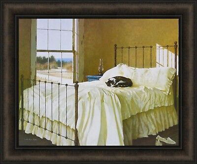 COASTAL CAT ART PRINT Nap Time by Zhen-Huan Lu Kitten Seascape Bed Poster 11x14