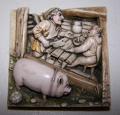 WIMBERLEY TALES TILE The Butcher Hand-Crafted Premier Edition COLLECTIBLE