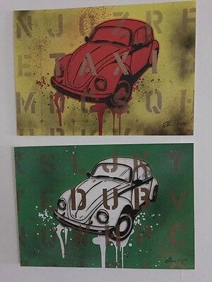 VW Dub Taxi 1 off hand finished art posters by Chris Boyle  ULTRA RARE