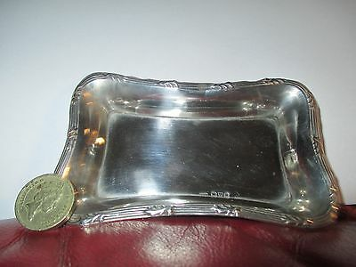 Beautiful Little Chester Hallmarked Rectangular Solid silver Pin Tray