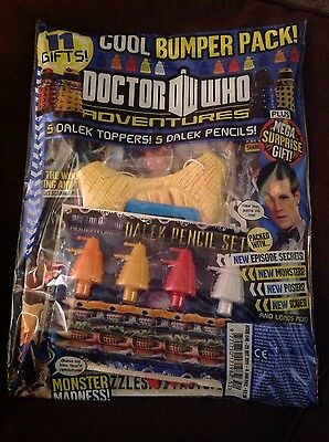 Doctor Who Adventures Magazine Issue 249 5 Dalek Toppers And Pencils.