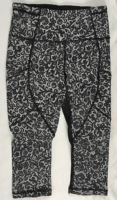 "Lululemon Women Outrun 17"" Crop Mesh Pants $98 Black LUXTREME MCLW 4"