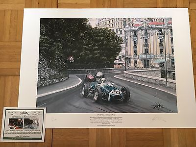Sir Stirling Moss Hand Signed 1961 Monaco Grand Prix Limited Edition F1 Print