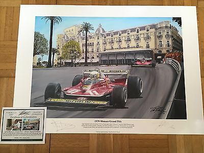Jody Scheckter Hand Signed 1979 Monaco Grand Prix Limited Edition F1 Print