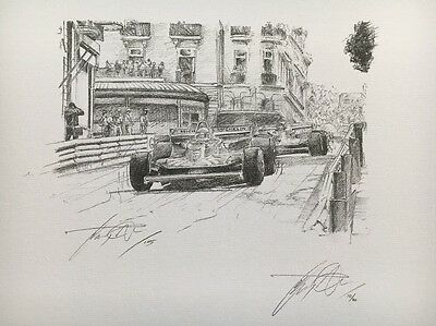 Jody Scheckter 1979 World Champion Hand Signed Limited Edition F1 Sketched Print