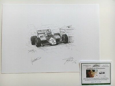 John Watson British GP Great Driver Hand Signed Limited Edition F1 Print