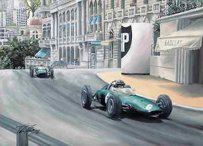 Graham Hill 1963 Monaco Grand Prix Hand Signed Limited Edition F1 Print