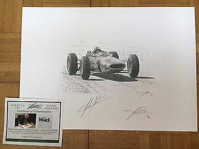 John Surtees Hand Signed 1964 World Champion Limited Edition F1 Sketched Print