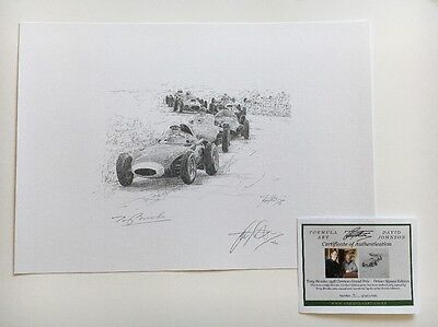 Tony Brooks British GP Great Driver Hand Signed Limited Edition F1 Print