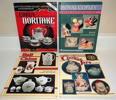 4 Identification & Value Guides - Royal Copley Noritake Hall China & Cookie Jars