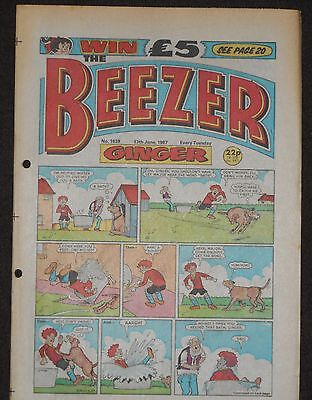 The Beezer Comic 13th June 1987 (Issue 1639)