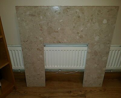 solid marble fire surround back panal