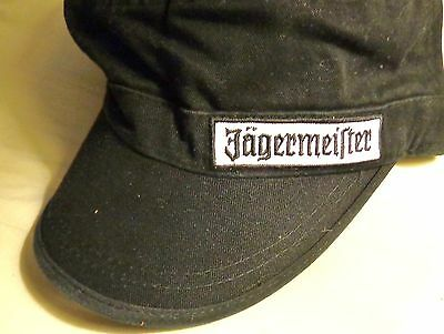 Jagermeister....Military Style Hat....Black....NEW