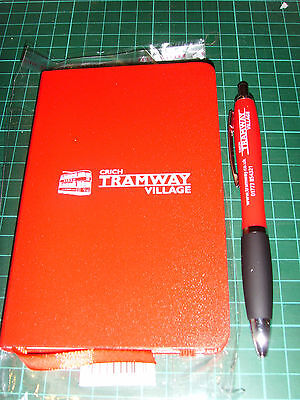 Tram Crich Tramway Village notepad and pen
