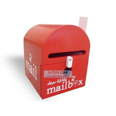 Dear Little Designs Kids Wooden Mailbox Letter Writing Learning Toy Red