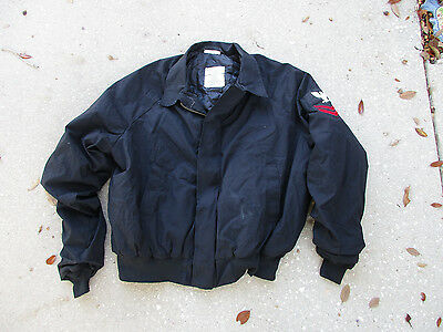 Navy Utility Jacket Unisex X-Large w/ E-5 Petty Officer 2nd Class Patch Vintage