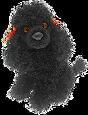 "Poodle Black  Colour 6.5"" soft toy from the range of Faithful Friends"
