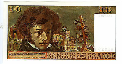 1974 France 10 Francs Hector Berlioz Note Crisp Uncirculated