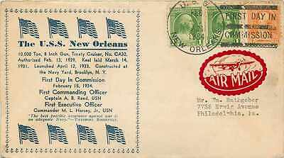 Cover USS New Orleans 1934