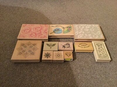 rubber stamps assorted collection new and used