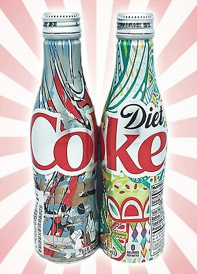 x2 Diet Coke Coca-Cola It's Mine 2016 LIMITED EDITION Aluminum Bottles 8.5 OZ