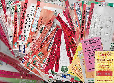 220+ LIVERPOOL FC 1975-2008 ticket stubs: (160+ homes, 60+ aways) BARGAIN PRICE