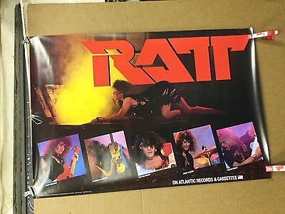"Ratt ""Out of the cellar"". 1984 original promo poster"