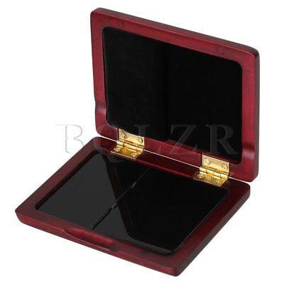 100x75x19mm Mahogany Color Wood Saxophone Reed Case Against Moisture for 3 Reeds