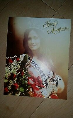 New Kacey Musgraves Pageant Material Signed Autographed 8X10 Photo Country Music
