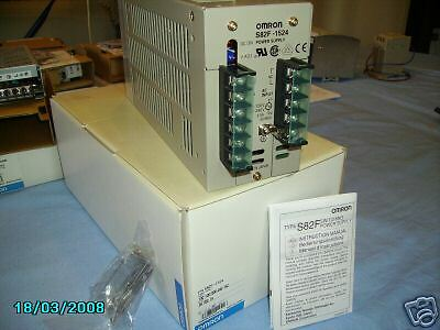 NEW Omron S82F-1524 Power Supply 100-240VAC to 24VDC
