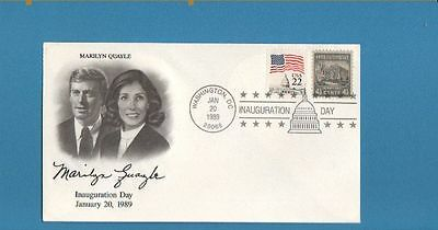 US 1989 Marilyn Quayle Inauguration Day Cover