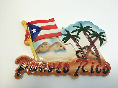 Hand-painted Puerto Rico Decorative Souvenir Hanging Wall Door Plaque Sign