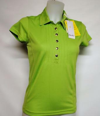 New Ladies XS Daily Sports polyester cap sleeve golf shirt polo top Mojito