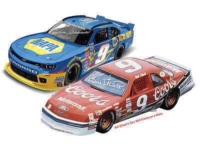 Chase & Bill Elliott Champion 1/24 Autographed 2 Car Set 1 Of 2425