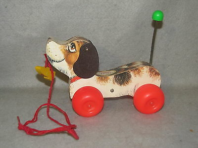 Vintage Fisher Price Little Snoopy Pull Toy #693 -- 1965