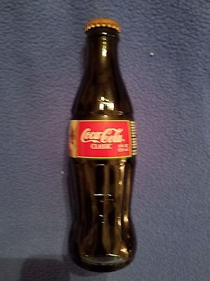 Coca Cola Classic Unopened 8 oz Collectible Coke Bottle 1995 Christmas 1995
